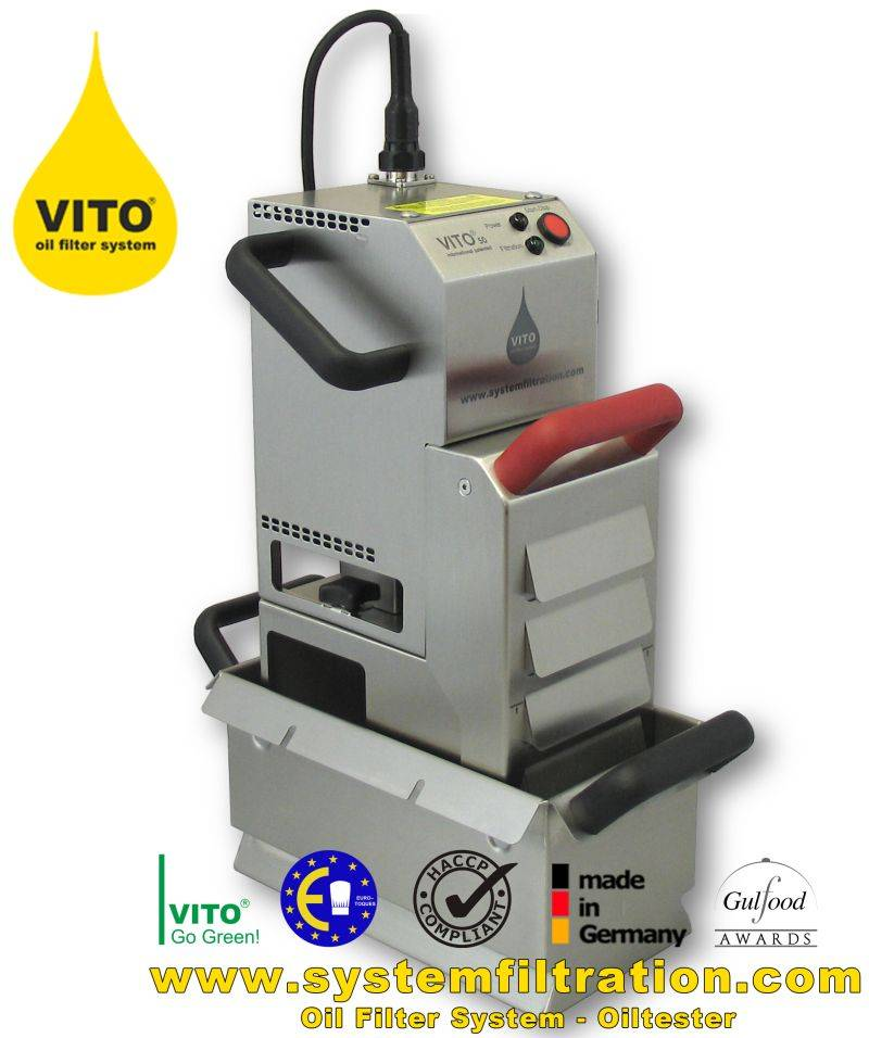 VITO 50 oil filter system, shortening filter, frying oil filter