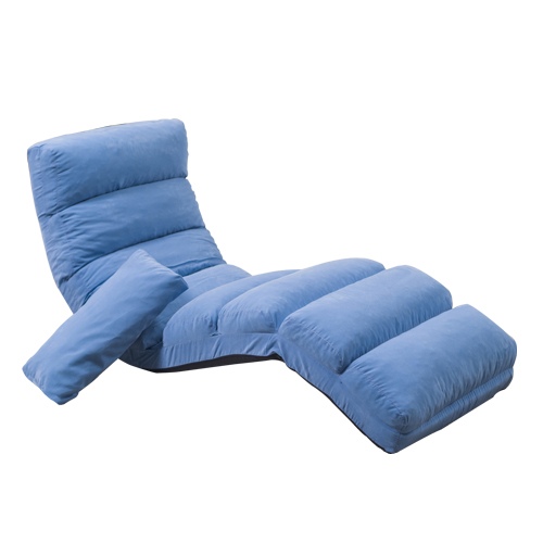 Reclining folding long sofa bed with pillow