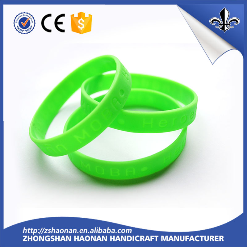 Factory price high silicone wristband