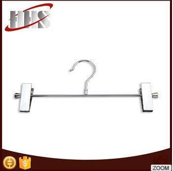 Manufacturer Chrome Plated Metal Hanger With Adjustable Clips
