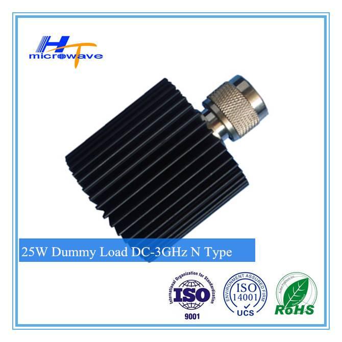 25W RF fixed coaxial Dummy Load /Termination load dc-3ghz N-F/N-M connector