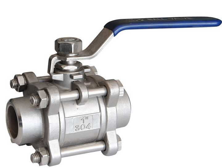 Welded ends ball valve