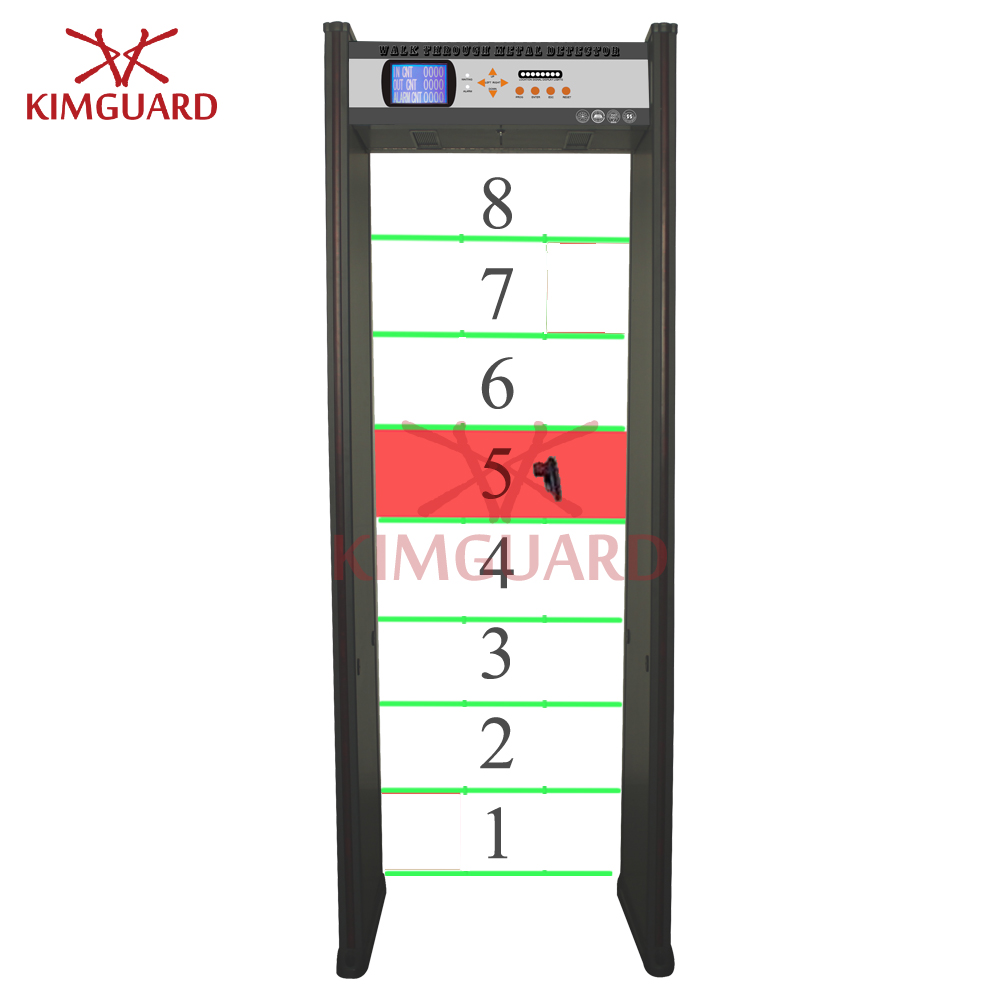 8zone Bilingual walkthrough metal detector gate for factory security check