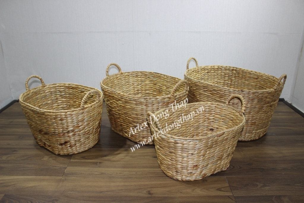 Best selling water hyacinth baskets for home furniture-SD5839G-4NA