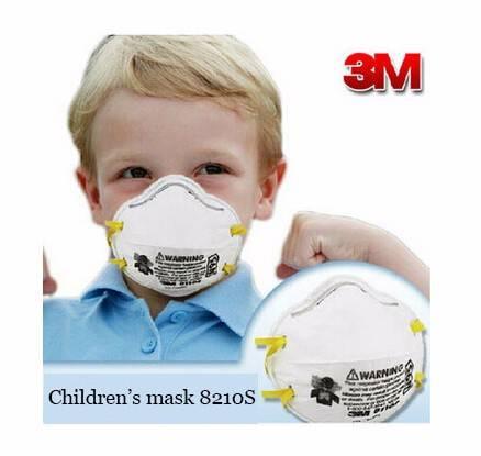 3m 8210S children's mask N95 dust masks respirator masks Particulate Respirator Adjustable noseclip