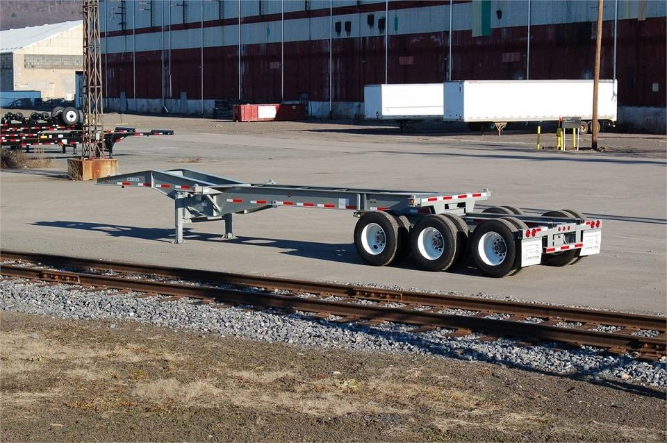 33ft 3Axles Slider Container Chassis