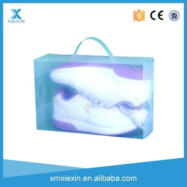 transparent plastic shoe box