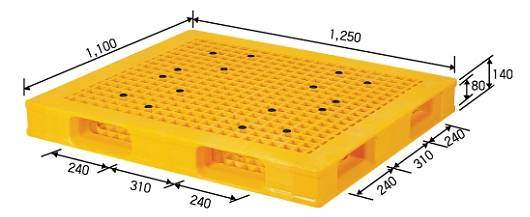 Reversible Plastic  Pallet for Automation and Heavy Duty Service
