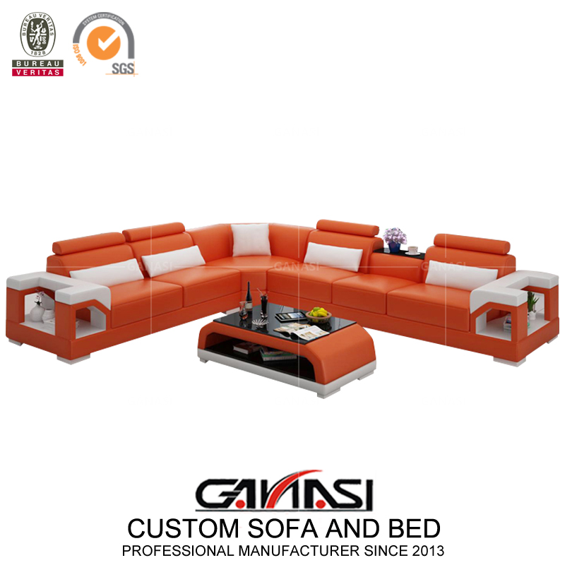 Living Room Furniture Corner Sofa In Optional Color