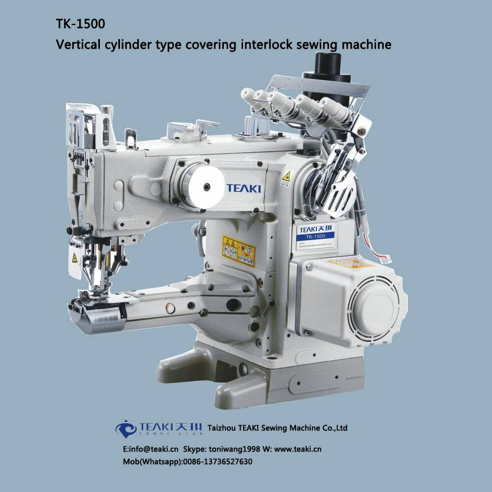 TK-1500 vertical cylinder type covering interlock sewing machine