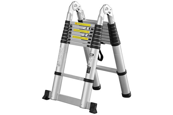 SGS Approved Indoor Multi Purpose Single Side Step Aluminum Telescopic Extension Ladder