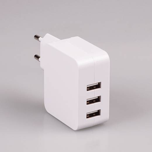 3 port USB desktop charger, tablet charger, desktop travel charger 5 v 4.8a power supply