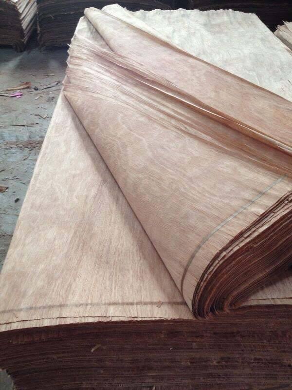keruing okoume birch natural face core rotary cut sliced wood veneer
