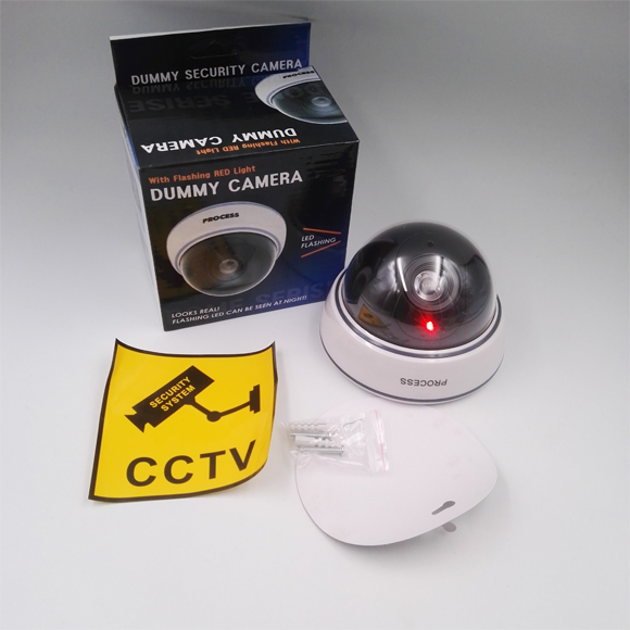 Security CCTV False Outdoor CCD Camera Fake Dummy Security Camera waterproof With Blinking Flashing
