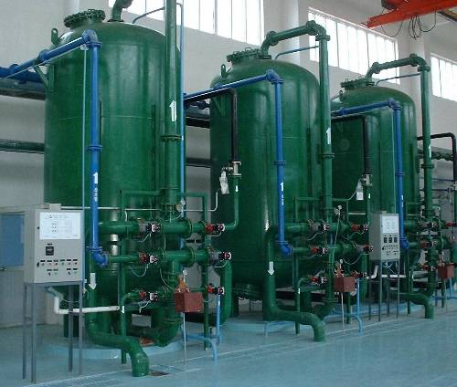 Ion exchange system for water