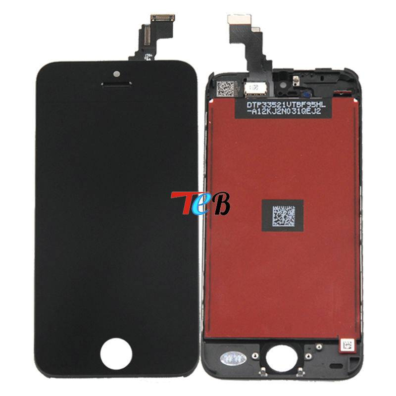 Black LCD Replacement For iphone 5C Mobile Phone LCD Screen Display and Touch Screen digitizer Assem