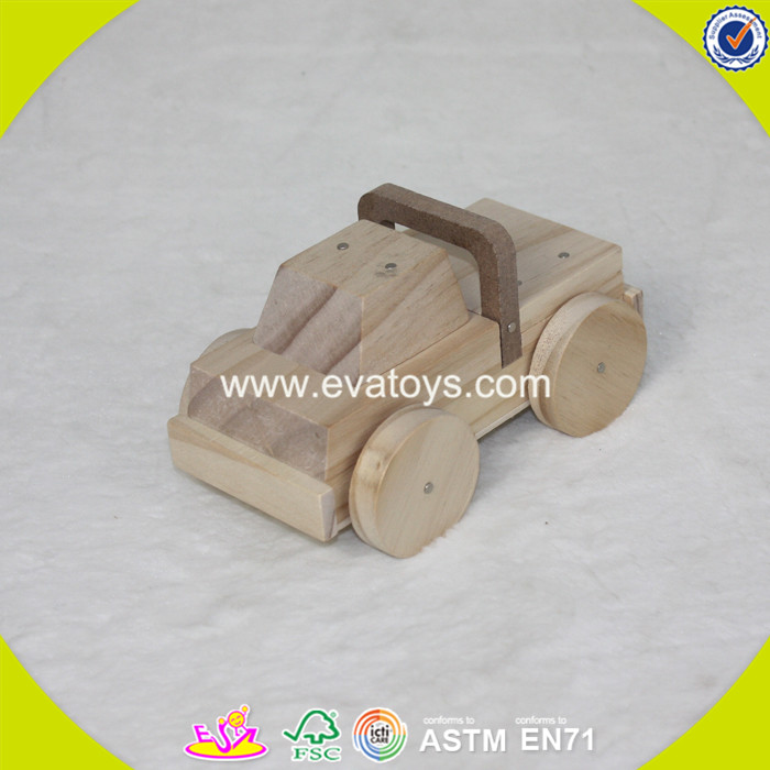 2017 new products educational wooden kids diy toy W03B051