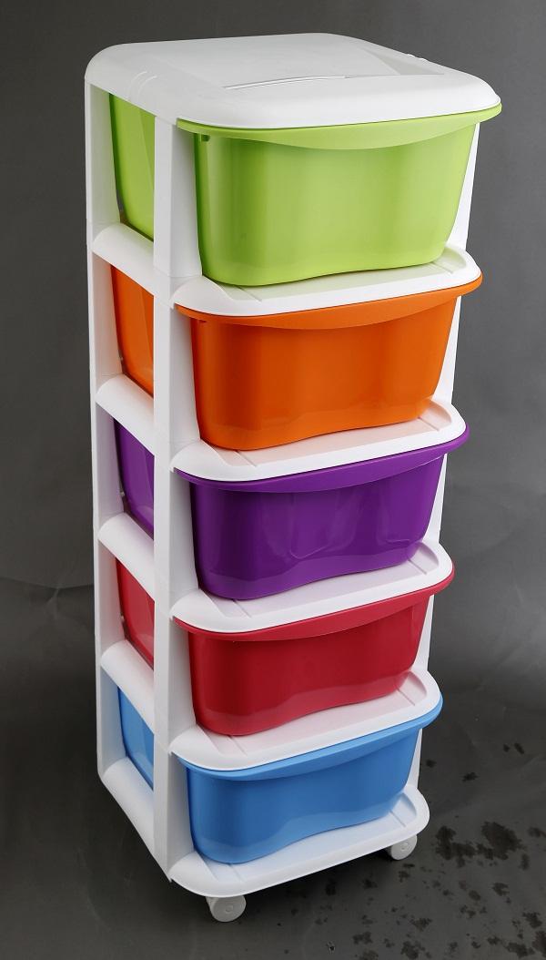 five floor plastic room storage case /plastic drawer PP