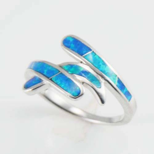 Nice jewelry fashion silver opal ring