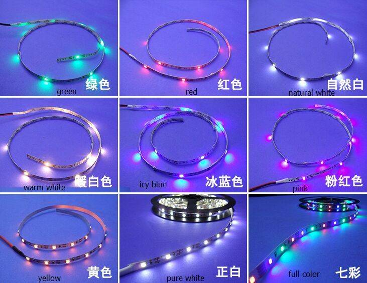 hot sell 3V 4.5v 5v 6v flexible LED light strip 4mm Width(can be with With battery box)