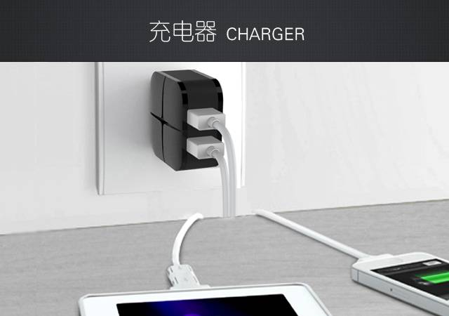 NEW GENAI 5V 3.1A Dual 2 USB Charger Wall Travel Fast Charger US Plug Mobile Phone Smart Charger for