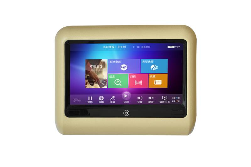 9 inch touch screen 1080 HDMI car headrest monitor with USB SD in car Karaoke entertainment system
