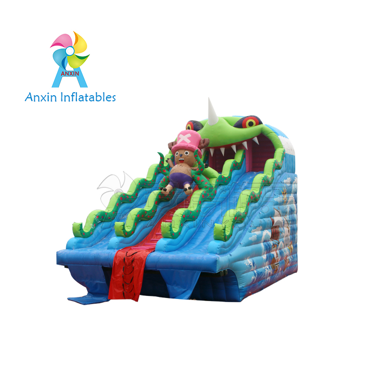 0.55mm PVC tarpaulin Inflatable commercial Riceroar Water Slides
