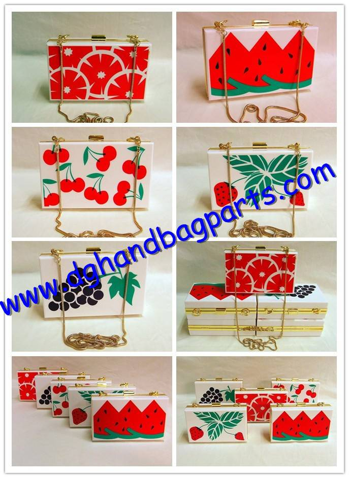 Acrylic clutch evening bags