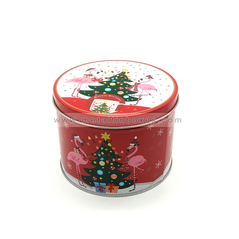 Wholesale custom christmas gift tin box packaging for cookies
