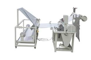 Fabric folding sewing machine
