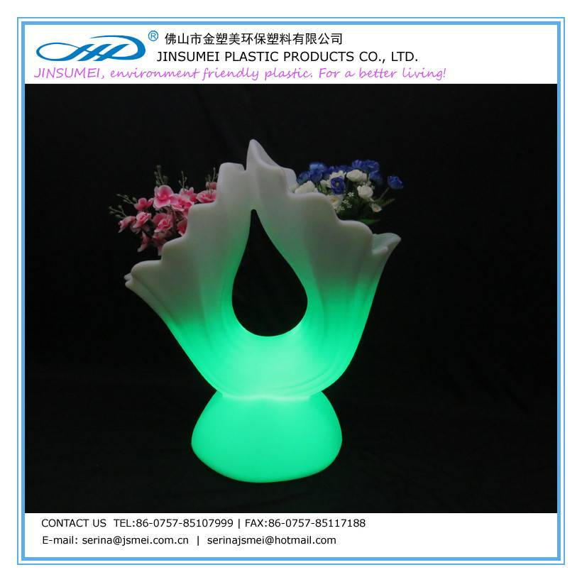 color changing garden flower pot
