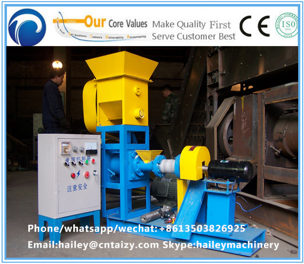 Hot sale good market floating fish feed pellet extruder machine