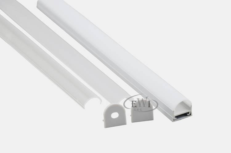 Half round aluminium profile ceiling led profile for pendant lamp light