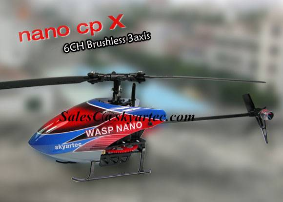 WASP NANO CPX 3D LCD 2.4GHz Brushless rc helicopter RTF
