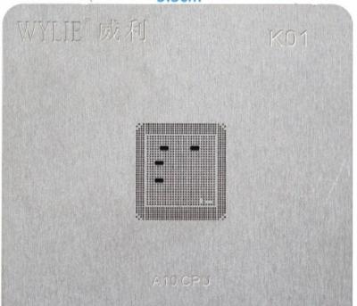 iPhone 7 7P A10 lower Baseband CPU WIFI tin plate steel BGA reballing Solder template