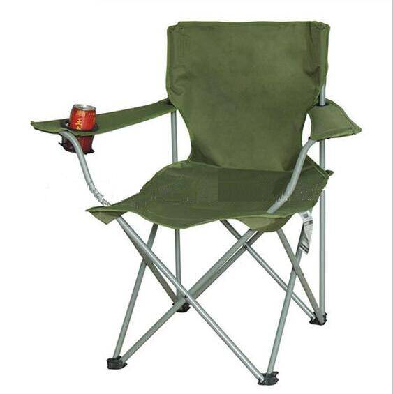 Fishing chair with cup holder with armrests portable comfortable for outdoor camping hiking garden
