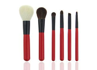 Mini Red Travel Makeup Brush Set