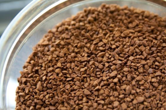 Premium instant coffee freeze dried