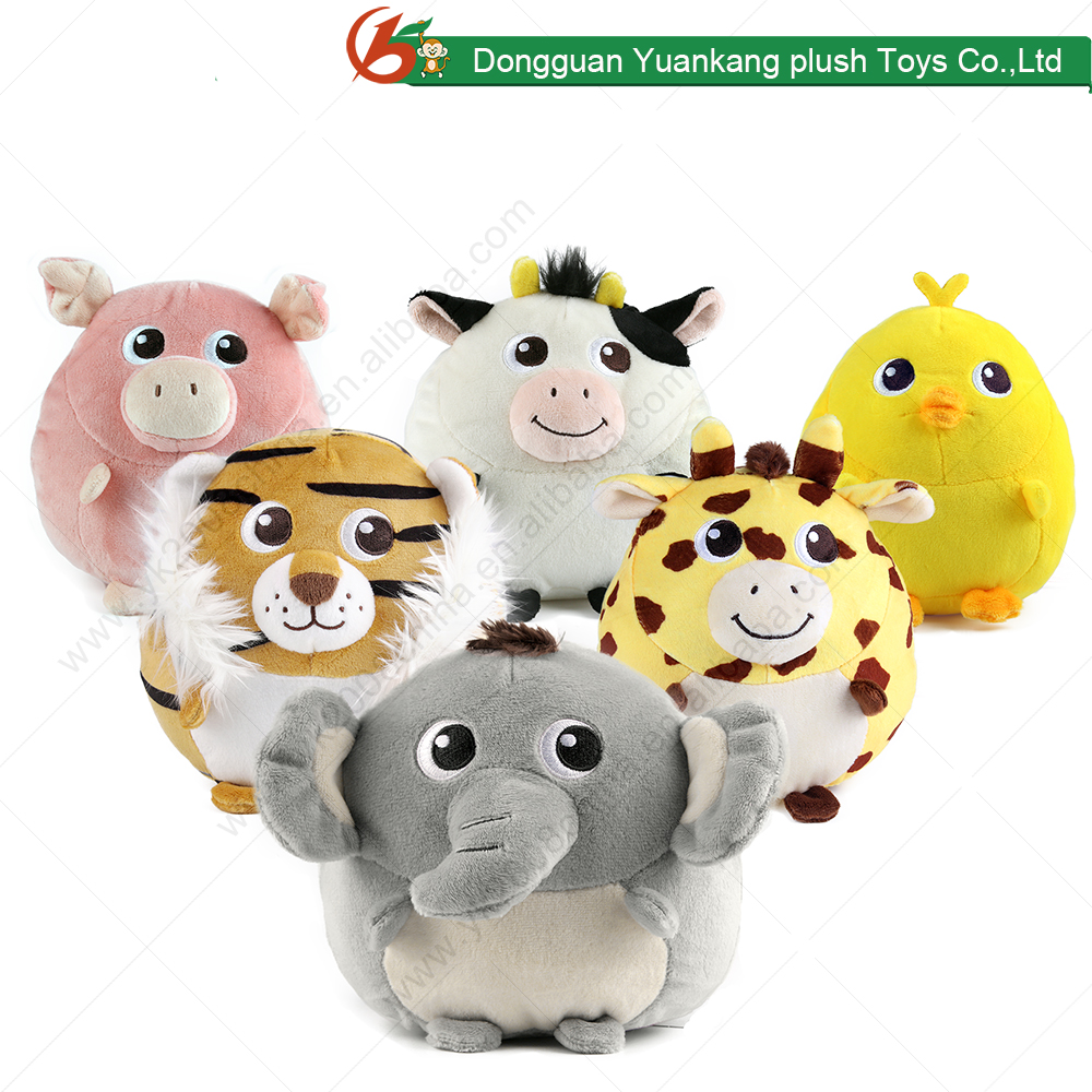 ICTI china factory custom-made plush animal toys in 15cm
