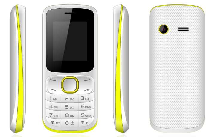 1.77inch feature phone 2G phone with SC6531 chipset and 600mAh battery
