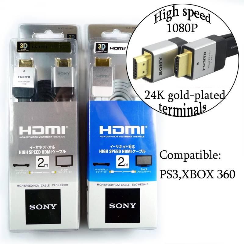 PS3  XBOX 360 2M 1.4 Version HDMI 3D Cable