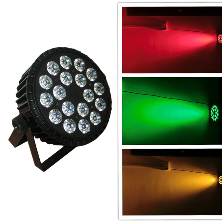 New 18PCS RGABWUV high power led lighting,6in1 led par64 light,led par cans,stage light