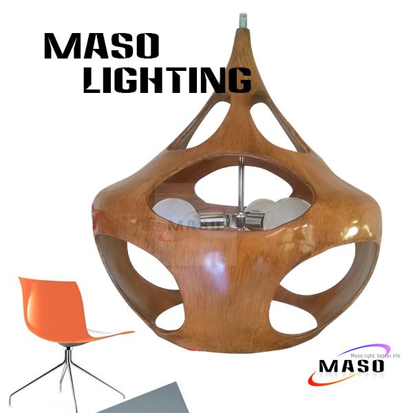 Hot sale Project Indoor Resin Pendant Lamp Maso MS-P1047L E27 LED 5w Three Light Sources