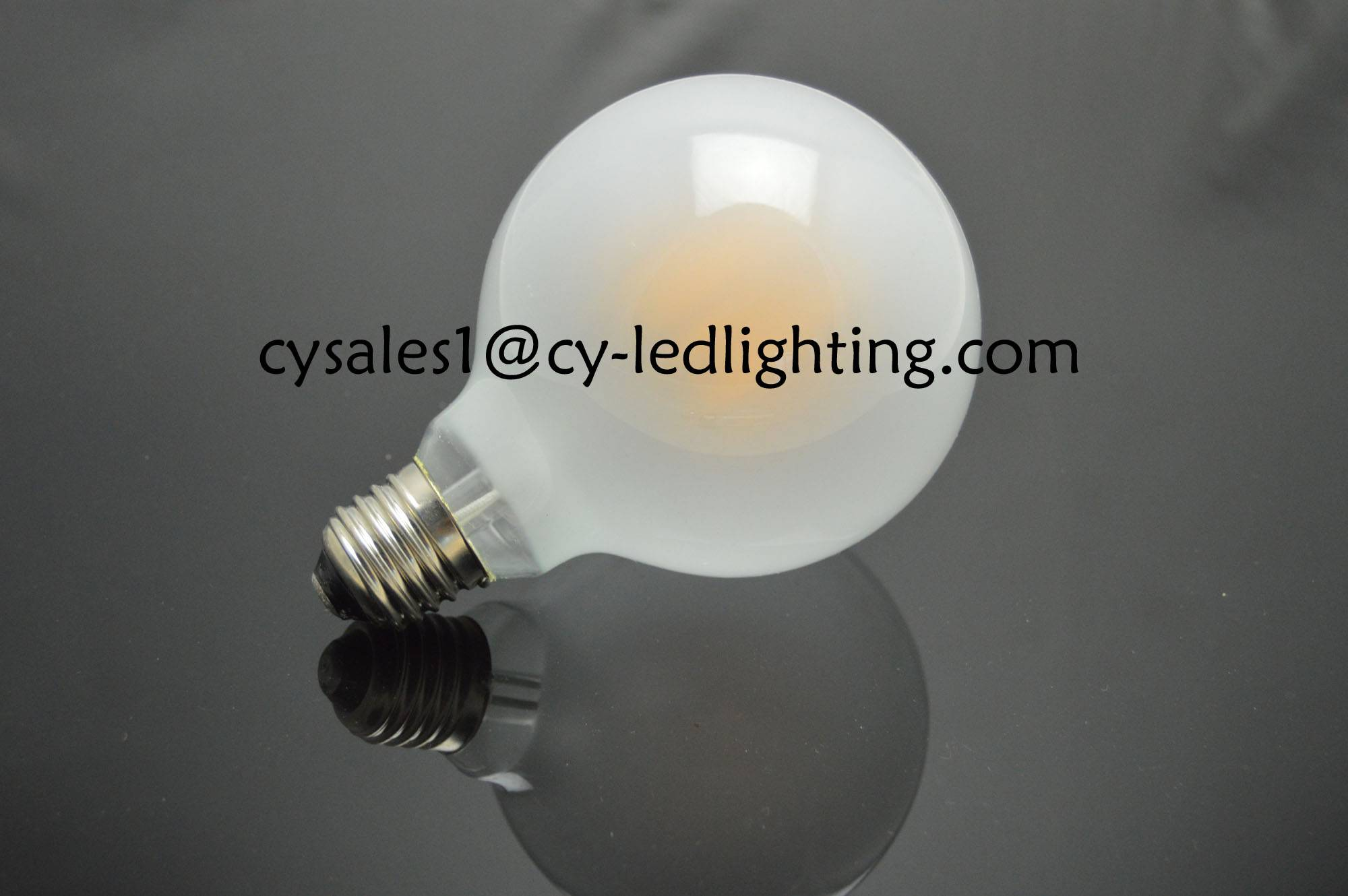 half milky G80 dimmable led bulb 580lm frosty filament led bulb