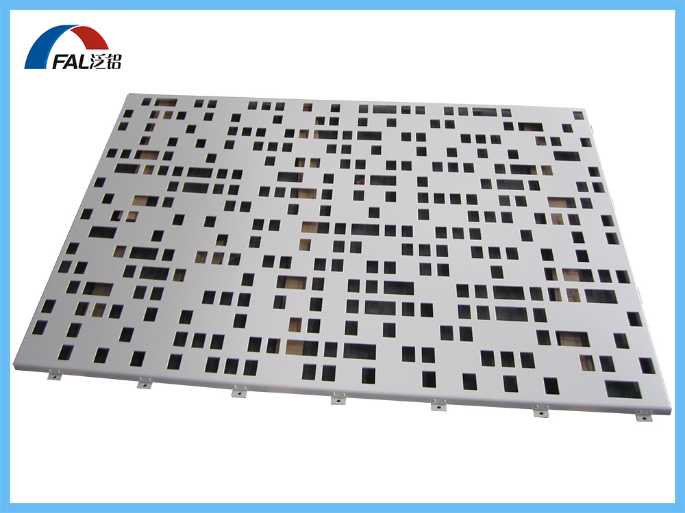 Square And Rectangular Hole Perforated Aluminum Solid Panel For Building Wall Cladding