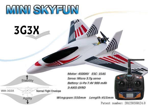 MINI SKYFUN rc airplane RTF Basic with 3G3X Technology
