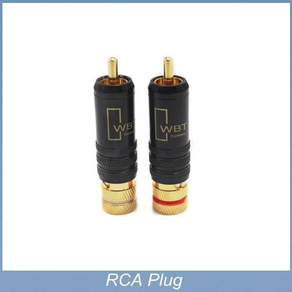 High Performance gold Plated HI Fi RCA copper Hi-End cable connector