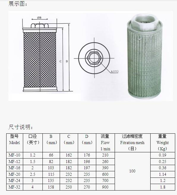 MF filter for air blower