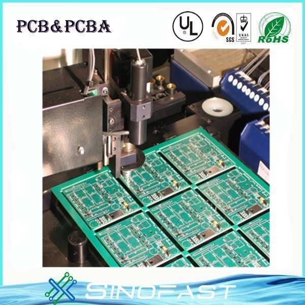 Customized HASL Green solder mask pannel size PCB