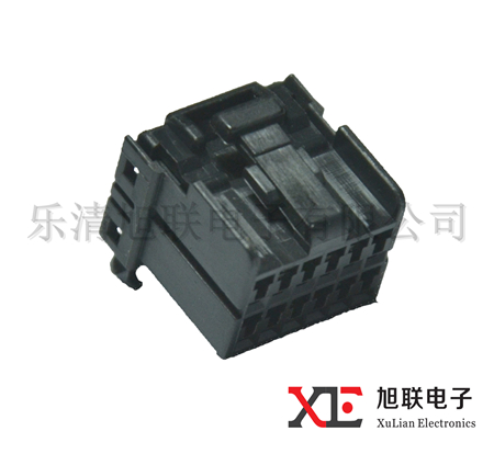 174045-2 12 Pin wire harness connector, female black plastic connector, auto housing connector